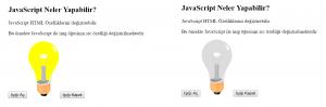 JavaScript Işık Aç Kapat Örneği
